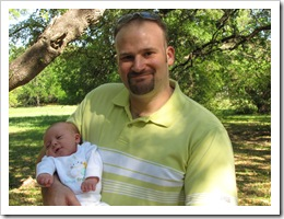 Daddy and Reid at the park