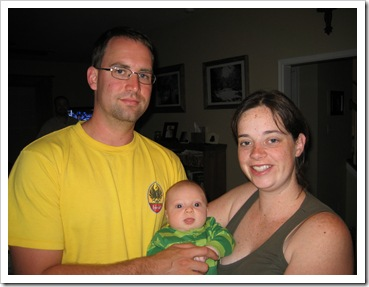 Uncle James, Aunt Stephanie & Reid, 5-24-09