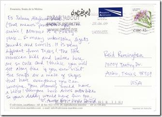 Reid's first postcard