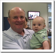 Papa met us at the airport, 9-4-09