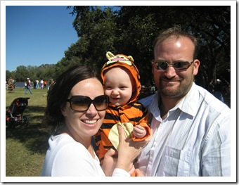 Family at the pumpkin patch, 10-24-09