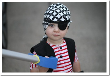 Our little pirate - Halloween 2010