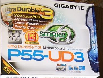p55 ud3 gigabyte motherboard