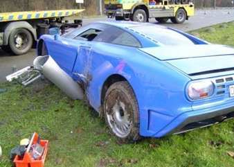 crashed lamborgini