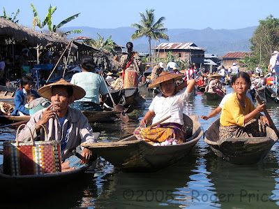 Floating market in Inle, Shan State