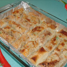 Chicken Egg Roll Enchiladas
