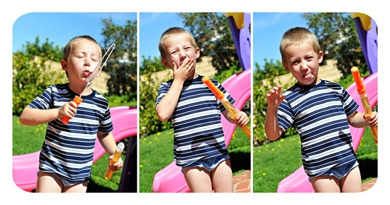 Soren blowing bubbles collage3
