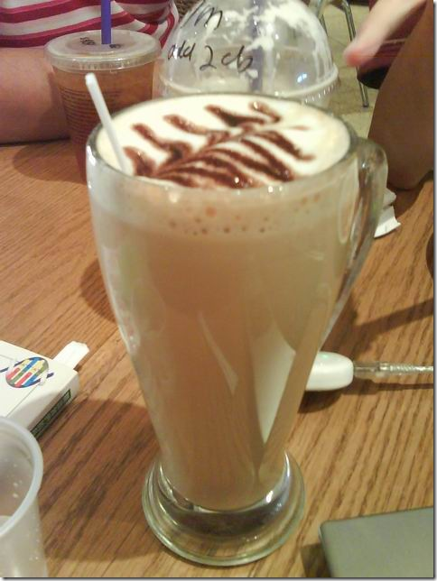 Chocolate white coffee