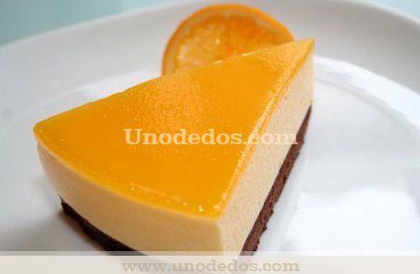 Tarta mousse de naranja