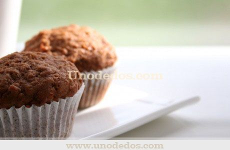 Muffins de zanahoria y nueces