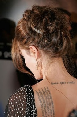 Angelina Jolie Tattoo, celebrity tattoos