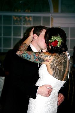 sexy tattooed bride, full body tattoo