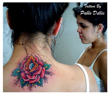 red rose flower tattoo design
