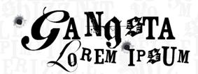 gangsta lorem ipsum logo