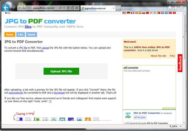 JPFtoPDFconverter.net site screenshot