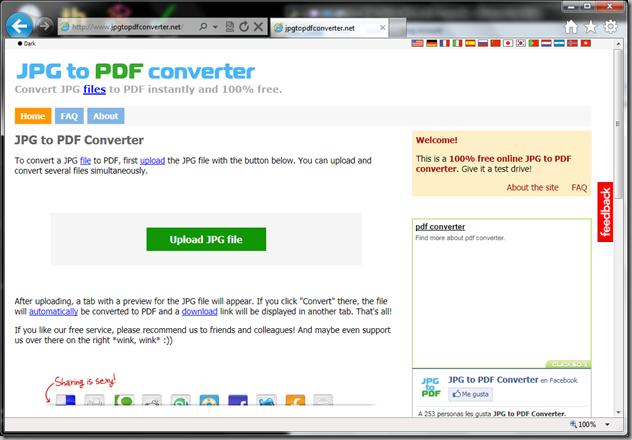 JPFtoPDFconverter.net site screenshot