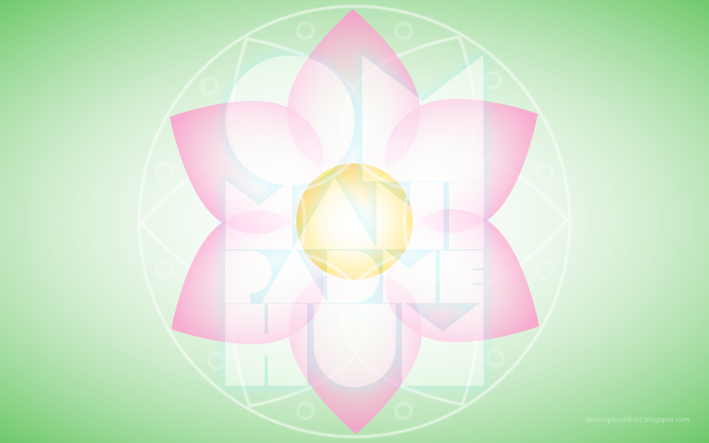 Desktop Buddhist Lotus And Guanyin Mantra Free Buddhist Wallpaper