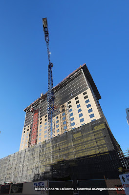 Golden Nugget Las Vegas new Hotel Tower Construction 2009