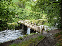 Bridge to lake shore (Grasmere, United Kingdom) Photo