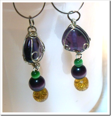 Linda B's Mardi Gras earrings