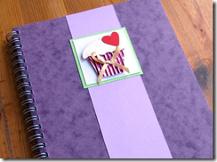 purple cupcake notebook