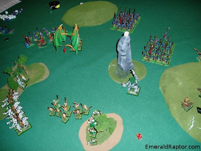 Warhammer Fantasy Battles - wood elves vs lizardmen