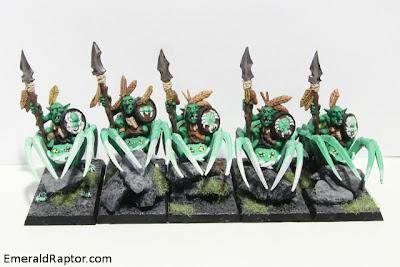 WHFB - Forest goblin spider riders  Hører til bloggpost http://emeraldraptor.com/?p=2163