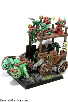 WHFB - Snotling pump wagon with squigs Hører til bloggpost http://emeraldraptor.com/?p=2163