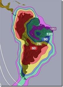 amazonas 61 w para america del sur