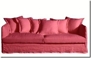 La Redoute canapé rose