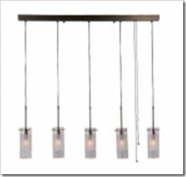 suspension luminaire quintetto