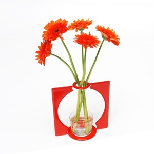 vase design rouge kipli