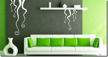 stickers en vert lianes