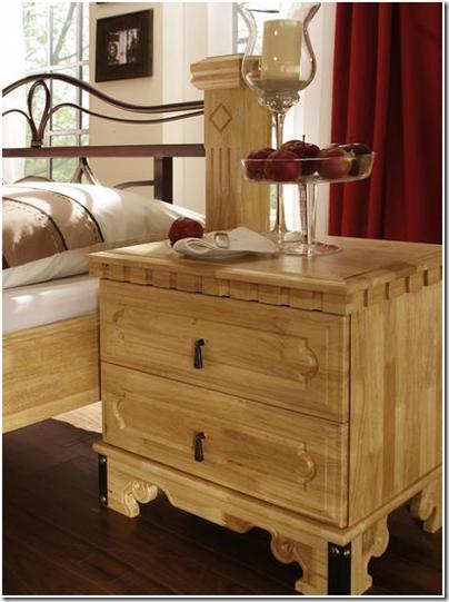chambre bois - table de chevet
