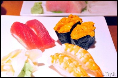 Sushi--Tuna, Uni and Ebi