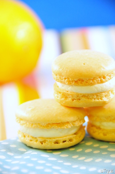 Meyer Lemons Macarons with Limoncello Buttercream