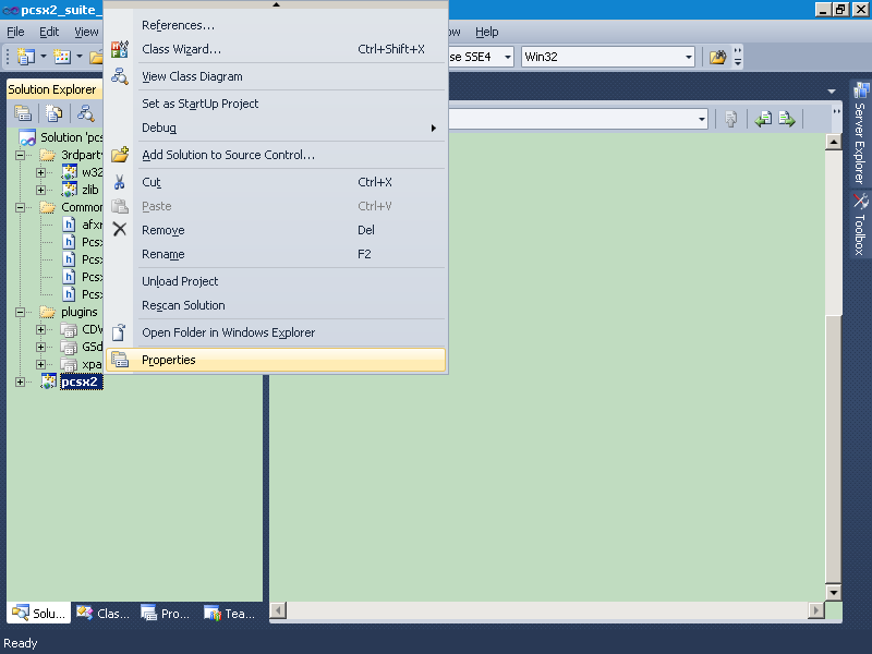 [Image: context_menu_of_pcsx2_legacy_gui_in_VS2010RC.png]