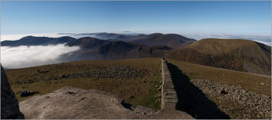 View from the Slieve Donard trig point