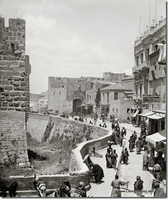 View inside Jaffa Gate, mat04928