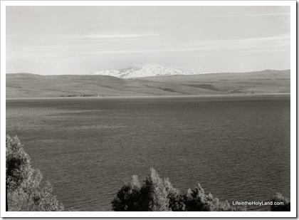 Mount Hermon and Sea of Galilee, mat12545