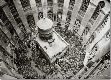 Holy fire ceremony from dome, mat14517