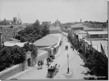 Jaffa Road, main thoroughfare of new city, mat06541