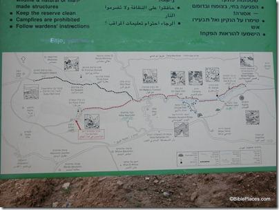 Wadi Qilt sign, tb020503013
