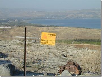 Minefield near south end of Sea of Galilee, tb111700842