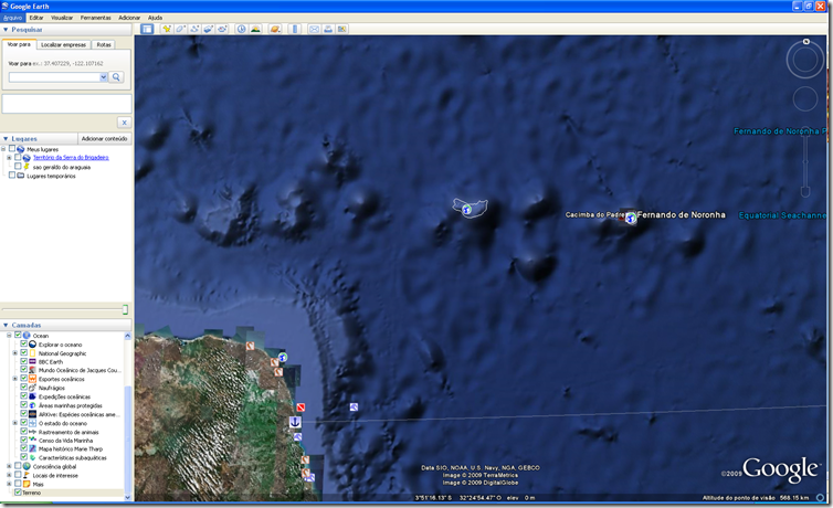 Google Earth 5 Fernando de Noronha