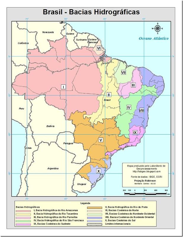 Bacias hidrograficas do Brasil