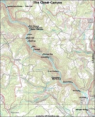 cheat river map