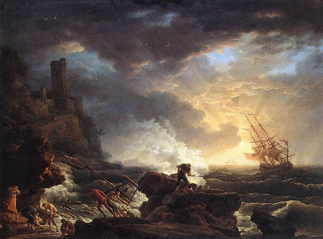Shipwreck by Claude Vernet
