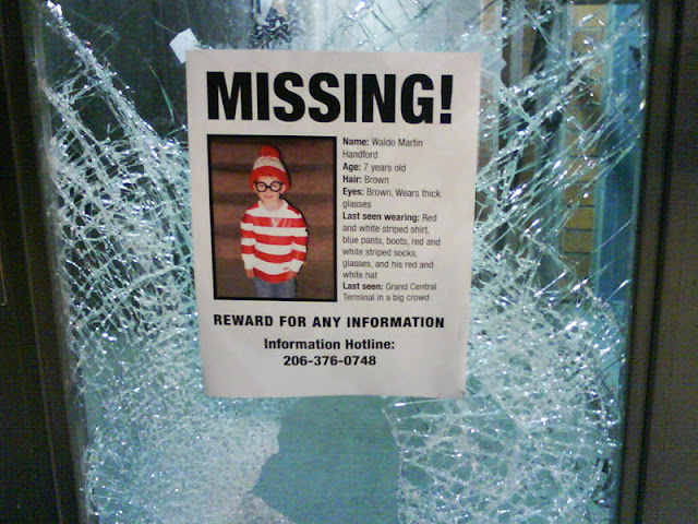 waldo in a missing person flyer