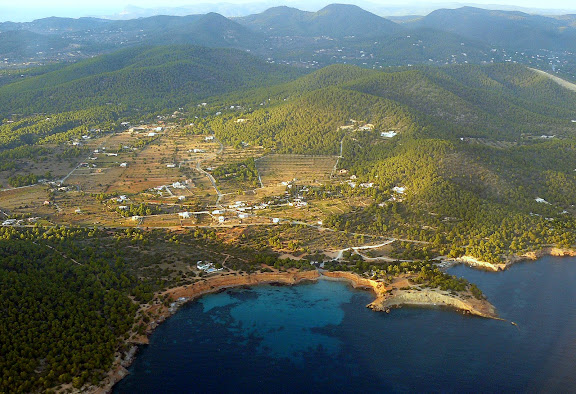 a view from above ibiza